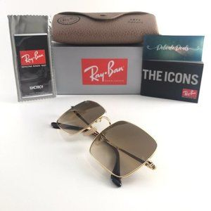 NEW Ray-Ban 1971 Light Brown Lens Square